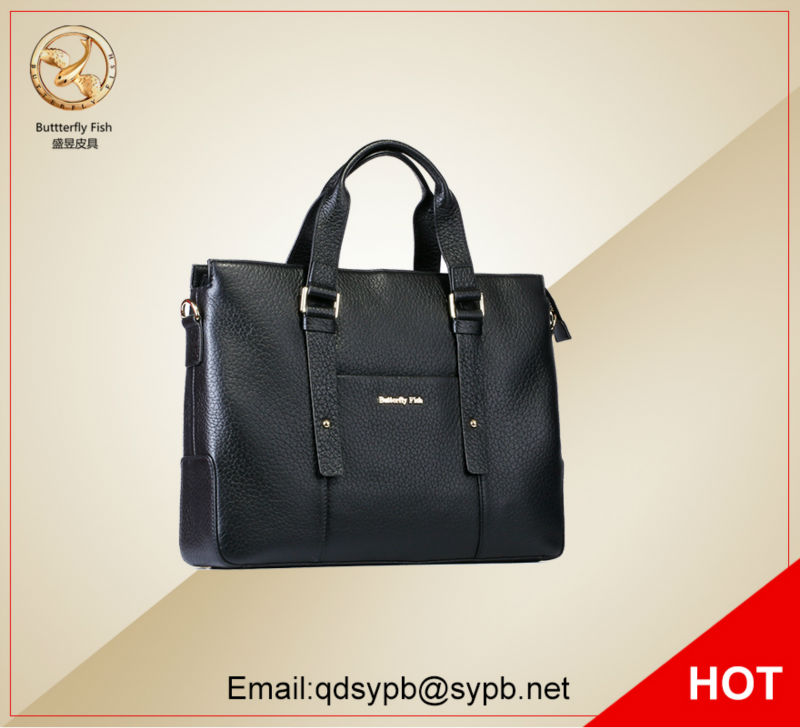 Butterfly Fish 2017 New style Hot selling young man black genuine leather briefcase bags computer handbag 10pcs 30333 automobile board computer ic the store selling the full range of hot new genuine