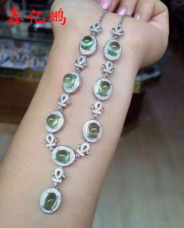 925 argent sterling avec pendentif collier en pierre de raisin naturel femme925 argent sterling avec pendentif collier en pierre de raisin naturel femme