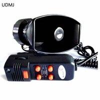 UDMJ Motorcycle Car Auto Vehicle Van Truck 12V Electronic Warning Police Siren Horn Firemen Ambulance Loudspeaker With MIC 100W