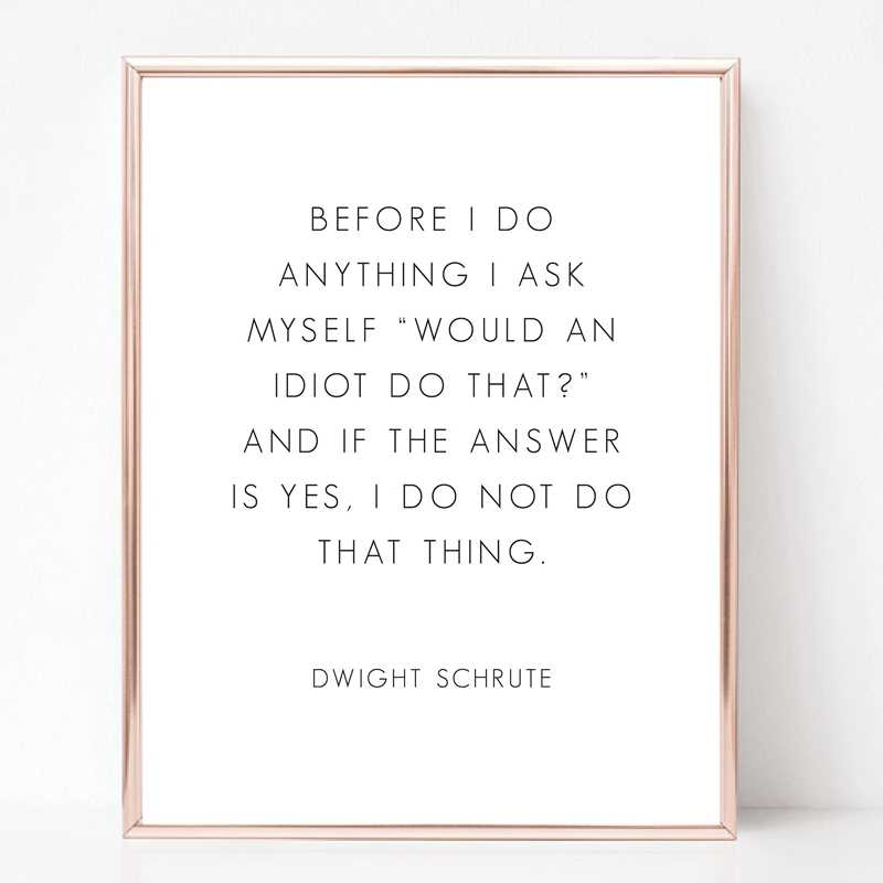 The Office Tv Series Print Poster Room Decor , Michael Scott And Dwight  Schrute The Office Quotes Wall Art Canvas Painting