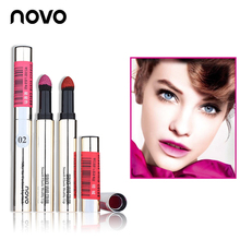 NOVO Silky Bitten Lips Powder Matte Lipstick Long-lasting Waterproof Lipgloss Smooth Elastic Lip Balm Makeup Cosmetic Lip Stick