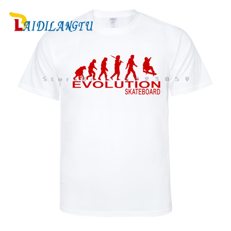 EVOLUTION SKATE funny TEE NEW xmas birthday gift ideas boys top T SHIRT Men T-shirt Short sleeve O-Neck Fashion T shirt