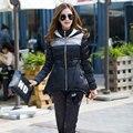 Duas Peças Casaco + Calças Definir Plus Size Jaqueta de Inverno mulheres Outwear Casaco Casuais Solta Mulheres Quente Para Baixo Casacos Parkas Y402