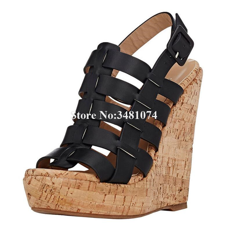 Summer Rome Style Platform Design And Wedges Buckle Strap Sexy High Heel And Open Toe Fashion Women Sandals ShoesSummer Rome Style Platform Design And Wedges Buckle Strap Sexy High Heel And Open Toe Fashion Women Sandals Shoes