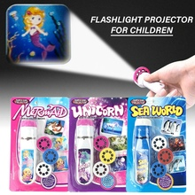 Luminous Projection Flashlight Kids Toys Action Figure LED L