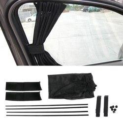 1 para regulowany składany samochód osłona przeciwsłoneczna na boczną szybę osłony przeciwsłoneczne do samochodu osłona przeciwsłoneczna na okno zasłona daszek Valance kurtyna osłona przeciwsłoneczna