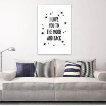 I Love You To The Moon And Back Canvas Star Art Print Poster Nordic Life Letter Style Wall Picture Living Room Painting Decor(China)