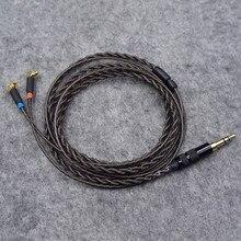 2.5mm/3.5mm prise 1.2m sans oxygène cuivre plaqué argent câbles pour écouteurs MMCX HiFi câble déquilibre pour F7200 F4100 F3100 ER4SR ER4XR