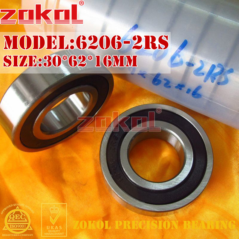 ZOKOL 6206RS Bearing 6206 2RS N RS Z3V3 6206 ZZ Z1 S6206zz 6206-2RSN Deep Groove Ball Bearing 30*62*16mm