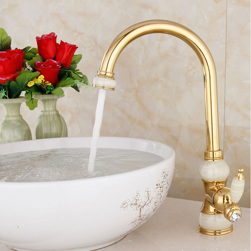 rose gold stage basin faucets bathroom jade bibcock all kitchen sink faucet copper cold and hot mix water