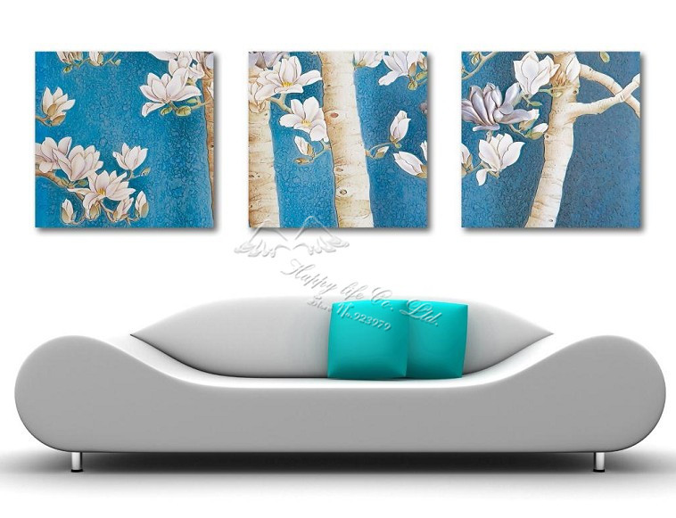 3 Panel Modern Wall Painting Wall Panel Home Decorative Art Picture Paint Tree Artwork Household Items