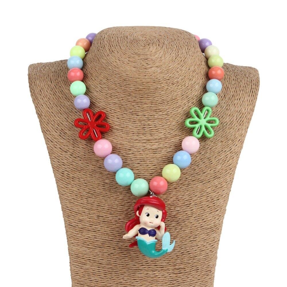unid pelcula princesa sirena collares gruesos xito torta nias nio chicle collar regalo de cumpleaos de cosplay