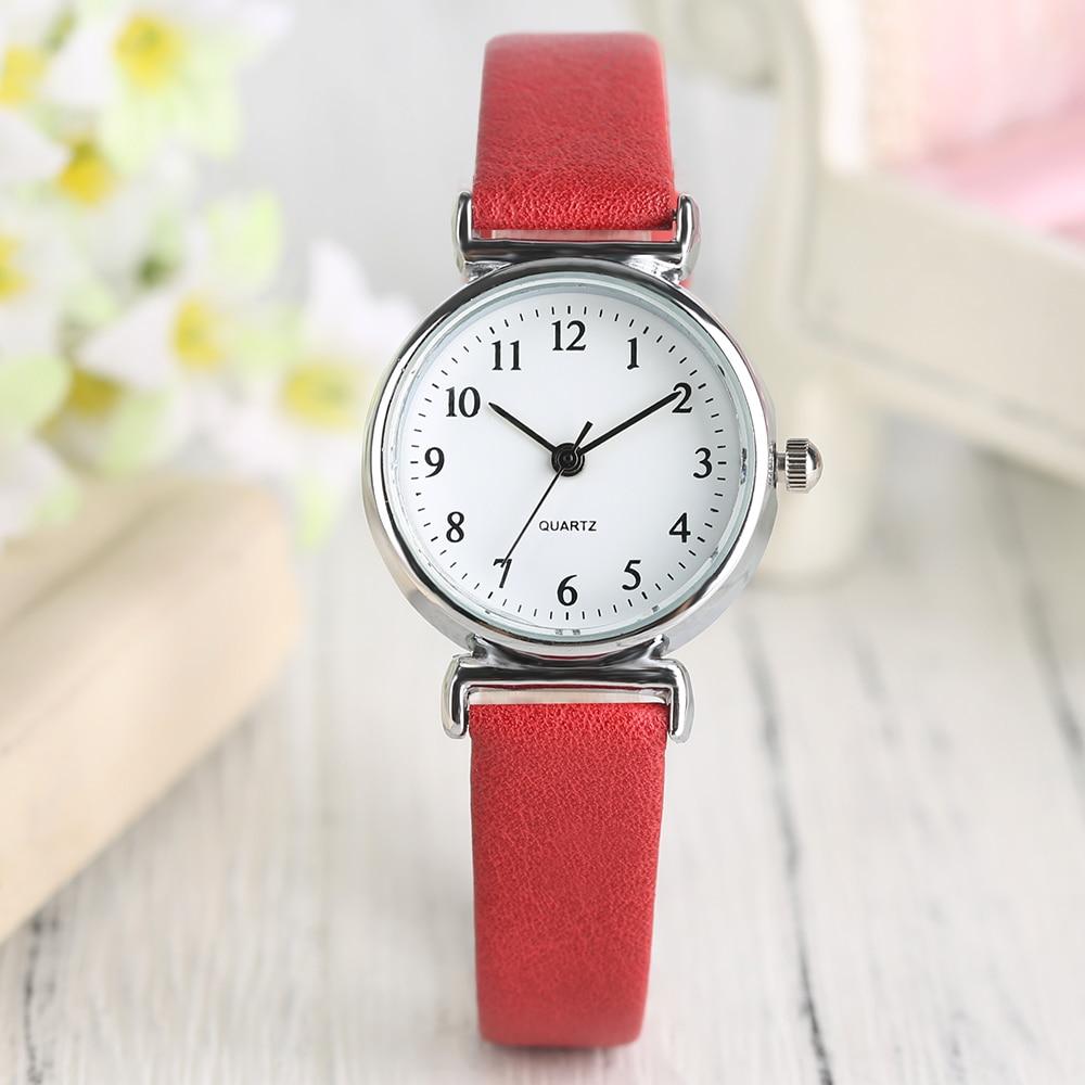 US $3.92 44% OFF Dames Horloges Fashion Kleine Dial Slim Band Minimalistische Quartz Horloge Arabische Cijfers Meisjes Party Casual Gift Relogio