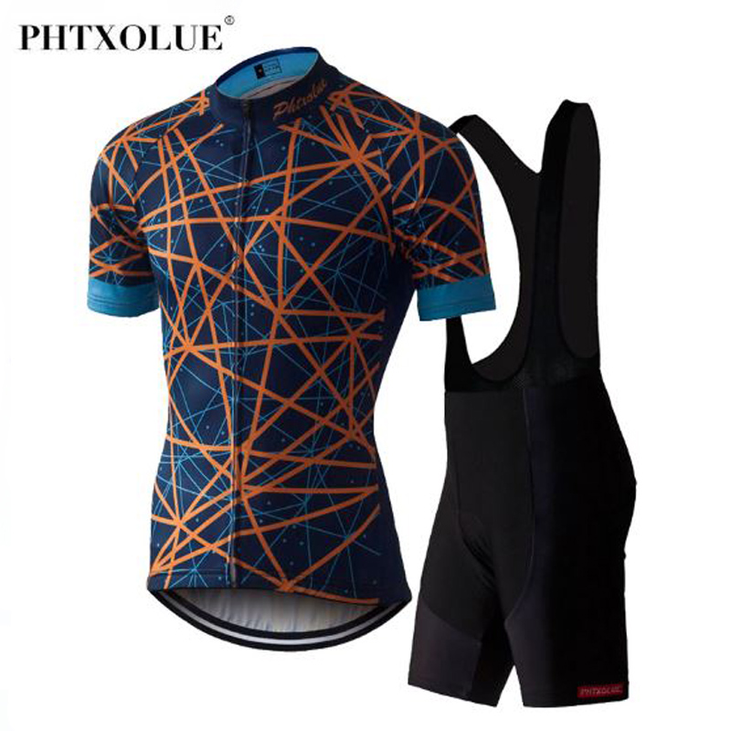 Phtxolue Summer Pro Cycling Jersey set Ropa Ciclismo Mountain Bike Clothing Breathable Mans Bicycle Clothes Jersey