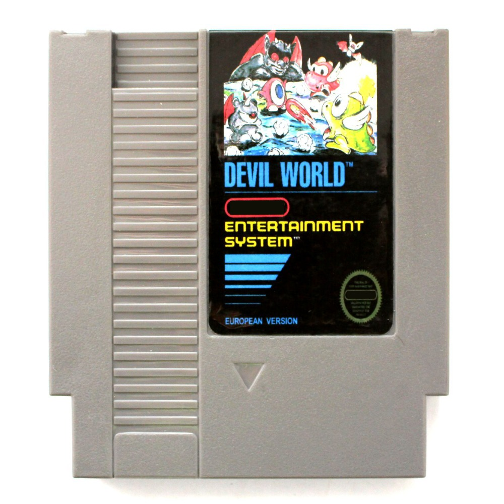 Devil World <font><b>72</b></font> <font><b>Pins</b></font> <font><b>Game</b></font> <font><b>Card</b></font> For 8 Bit <font><b>Game</b></font> Player image