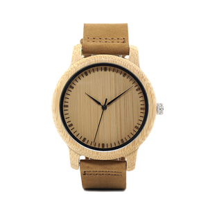 Image 2 - BOBO BIRD WA15RU Casual โบราณไม้ไผ่ไม้นาฬิกาผู้ชายสายหนังนาฬิกาแบรนด์หรู OEM