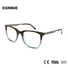 ESNBIE Light Weight Acetate Eye Glasses Frame For Men Designer Full Rim Optical Eyewear Glass Myopia Square