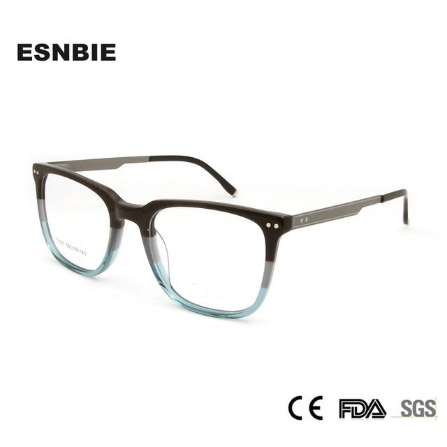 7f7d67ac2722 ESNBIE Light Weight Acetate Eye Glasses Frame For Men Designer Full Rim Optical  Eyewear Frame Glass Myopia Square