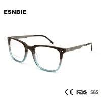2e9fe98d7c ESNBIE Light Weight Acetate Eye Glasses Frame For Men Designer Full Rim  Optical Eyewear Frame Glass