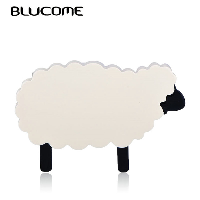 Blucome Fashion Cartoon Large Sheep Alpaca Brooch Acrylic Jewelry Animal Shape Badge Women Girl Child Bag Scarf Pins Accessories