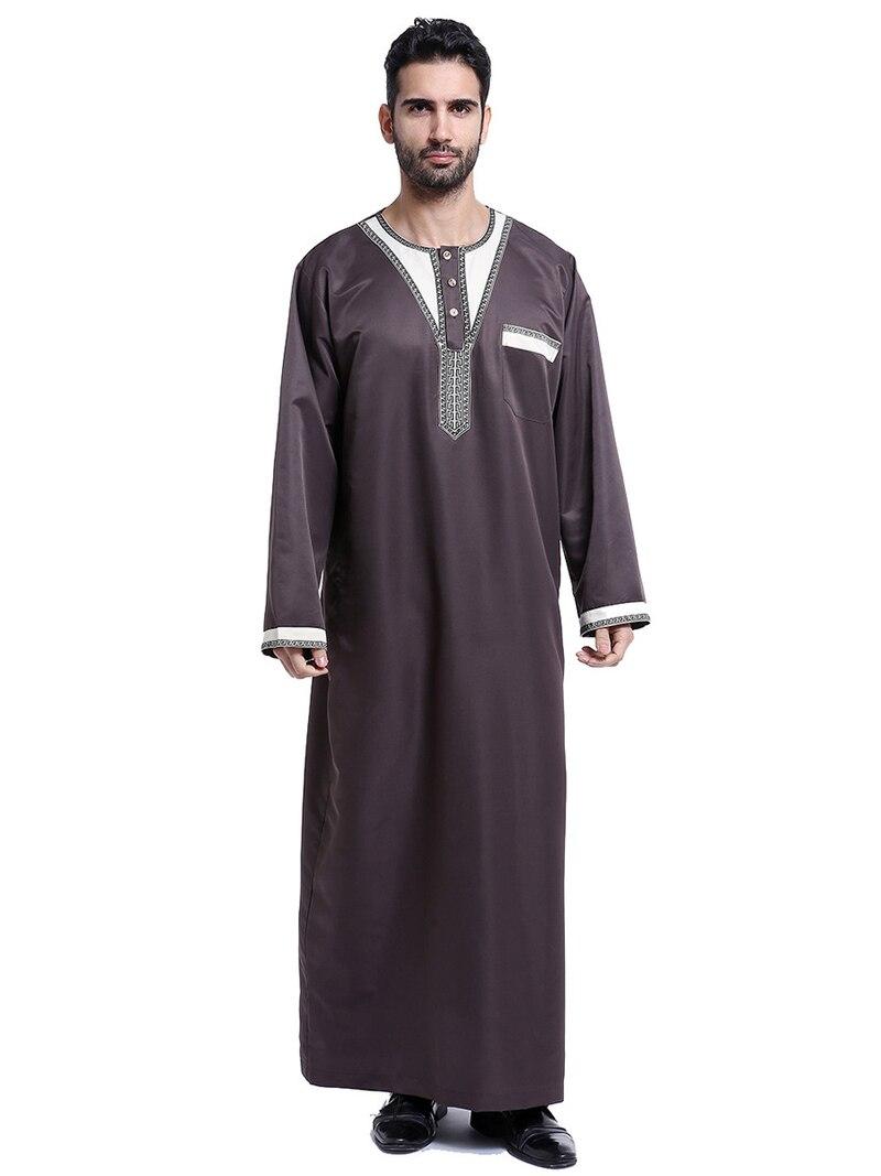 ผู้ชายอิสลามอาหรับมุสลิมเสื้อผ้า Kaftan Vintage หลวม Jubba ผู้ชายซาอุดีอาระเบียปากีสถานขนาดโอมาน Robes เครื่องแต่งกาย