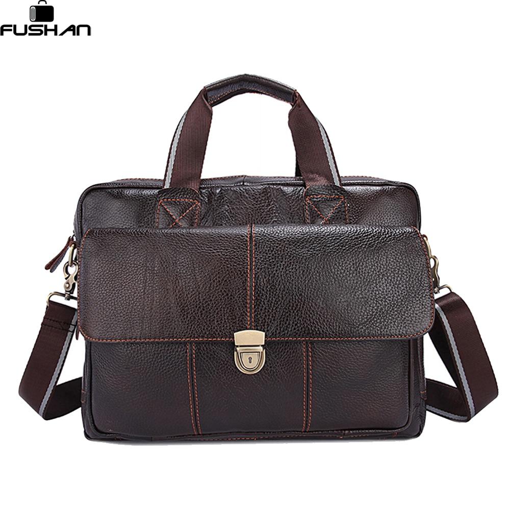 100% Genuine Leather Men Bags Hot Sale Man Messenger Bag Cowhide Leather Men's Briefcase Male Crossbody Shoulder Fashion Handbag