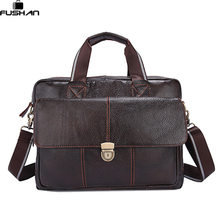 100% Genuine Leather Men Bags Hot Sale Man Messenger Bag Cowhide Leather Men's Briefcase Male Crossbody Shoulder Fashion Handbag