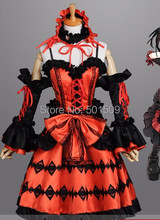 Envío gratis anime cosplay / lolita vestido Medieval vestido / de dibujos animados / vestido con hairband y la manga del manguito