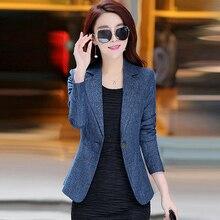 2018 New Fashion Single Button Blazer Women Suit Jacket Blaser Female Plus Size Coat Femme Jackets OL Office Blazer Y226