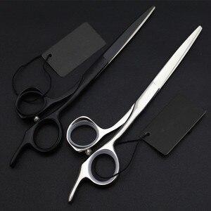Image 5 - Tijeras profesionales de pelo de alta calidad japonesas, 440c, 5,5 y 6 y 6,5 pulgadas, tijeras de corte para salón, tijeras de peluquería