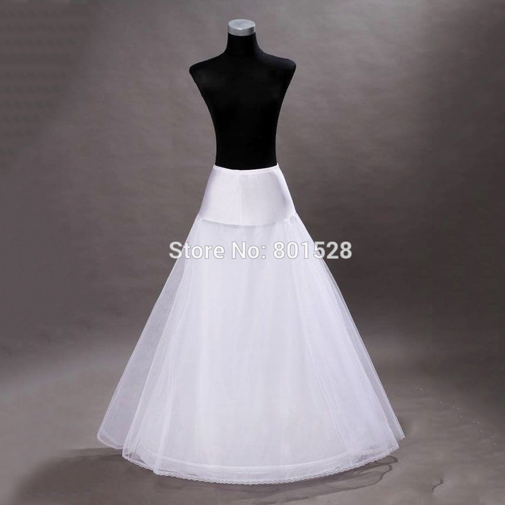 MisShow Womens Full A-Line 2 Hoop Floor-Length Bridal Dress Gown Slip Petticoat