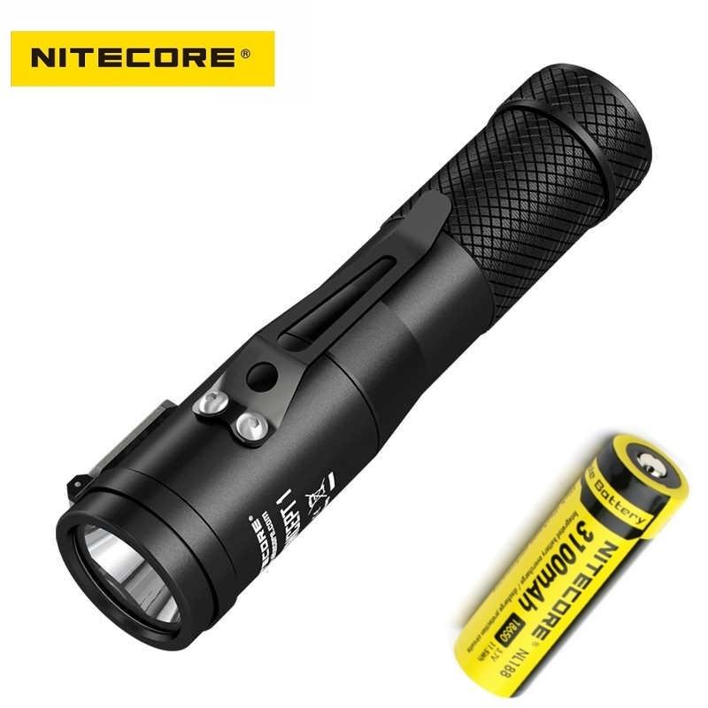 NITECORE Concept 1 LED Flashlight CREE XHP35 HD E2 1800 lumen Outdoor Torch beam distance 220