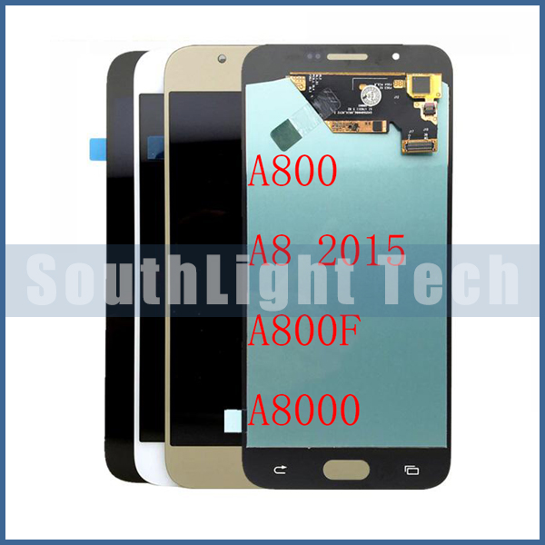 Grade AAA +++ Super AMOLED Screen Compatible For <font><b>Samsung</b></font> A8 2015 <font><b>A8000</b></font> A800 A800F LCD Display Touch Screen Digitizer Assembly image