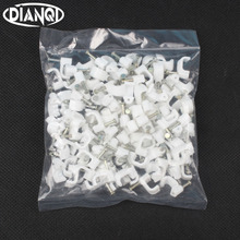 8MM cable clips cable nail wire clips 100PCS/bag 8mm cable clips Square white F8