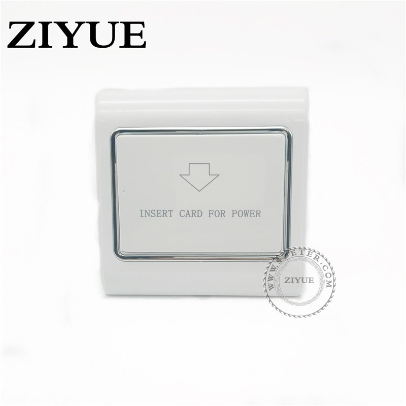 insert card for power hotel switch wall interruptor brushed silver stainless steel panel power light conmutador Insert Any Card for Power Optical Coupling Energy Saving Switch for  Hotel Switch