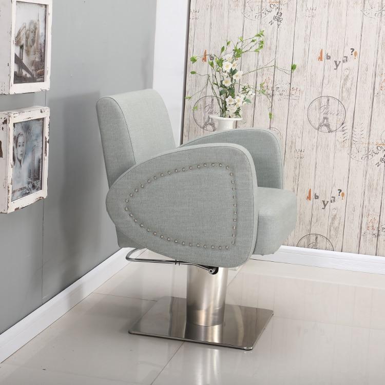 Купить с кэшбэком Lift hair chair simple hair chair hair gallery exclusive hair chair high-end hair cutting chair modern wind hair cutting chair.