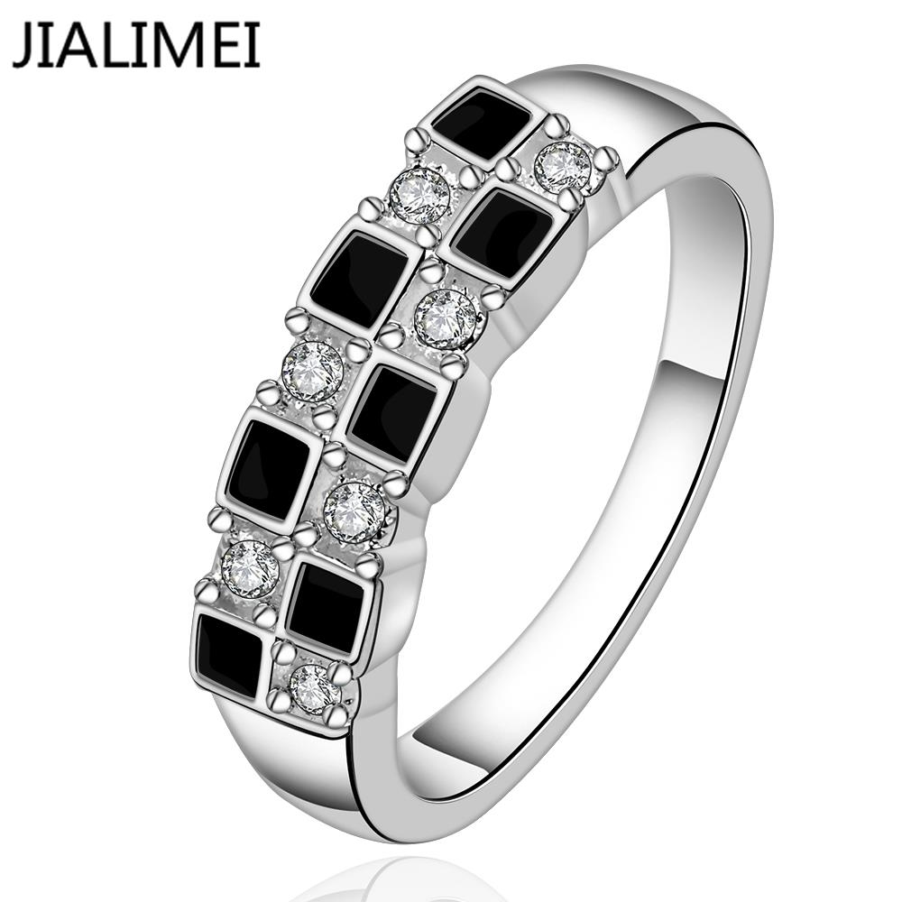 Wholesale 2017 New Arrival Women Party Geometric Jewelry Anillos R619-8 925 Sterling Silver Finger Ring For Lady