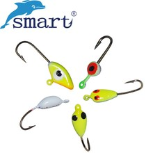 SMART 20Pcs/Lot Ice Fishing Hook Bait Jig Lead Head Hooks Lure Leurre Souple Peche Iscas Artificias Para Pesca
