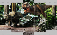 2016 Rushed Jurassic World Chris Pratt Famous Dinosaur Science Fiction Adventure Movie Poster oil painting coloring by Numbers