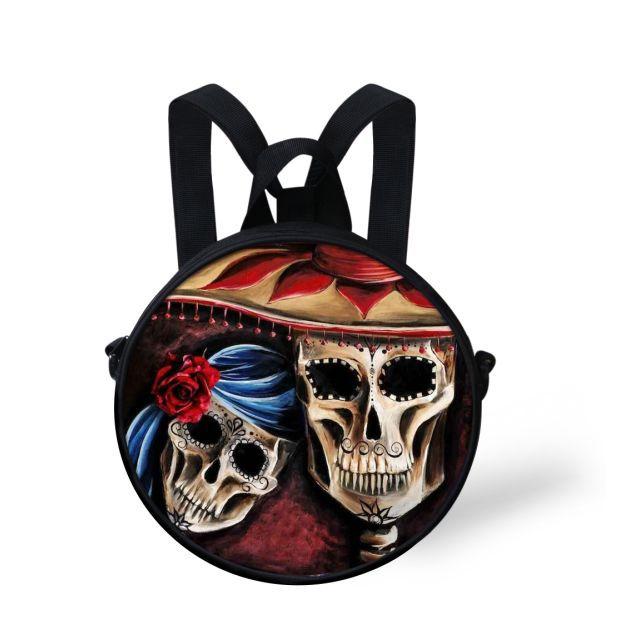 New Personality Fashion Casual Skull Backpack Preppy Children Kindergarten Bag Mochila Girls Double Shoulder Students Bag