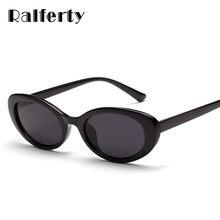 1b8ad227c2 Ralferty 2018 nuevo Oval gafas de sol de la marca de lujo de las mujeres  diseñador UV400 blanco gafas de sol Retro gafas de sol .
