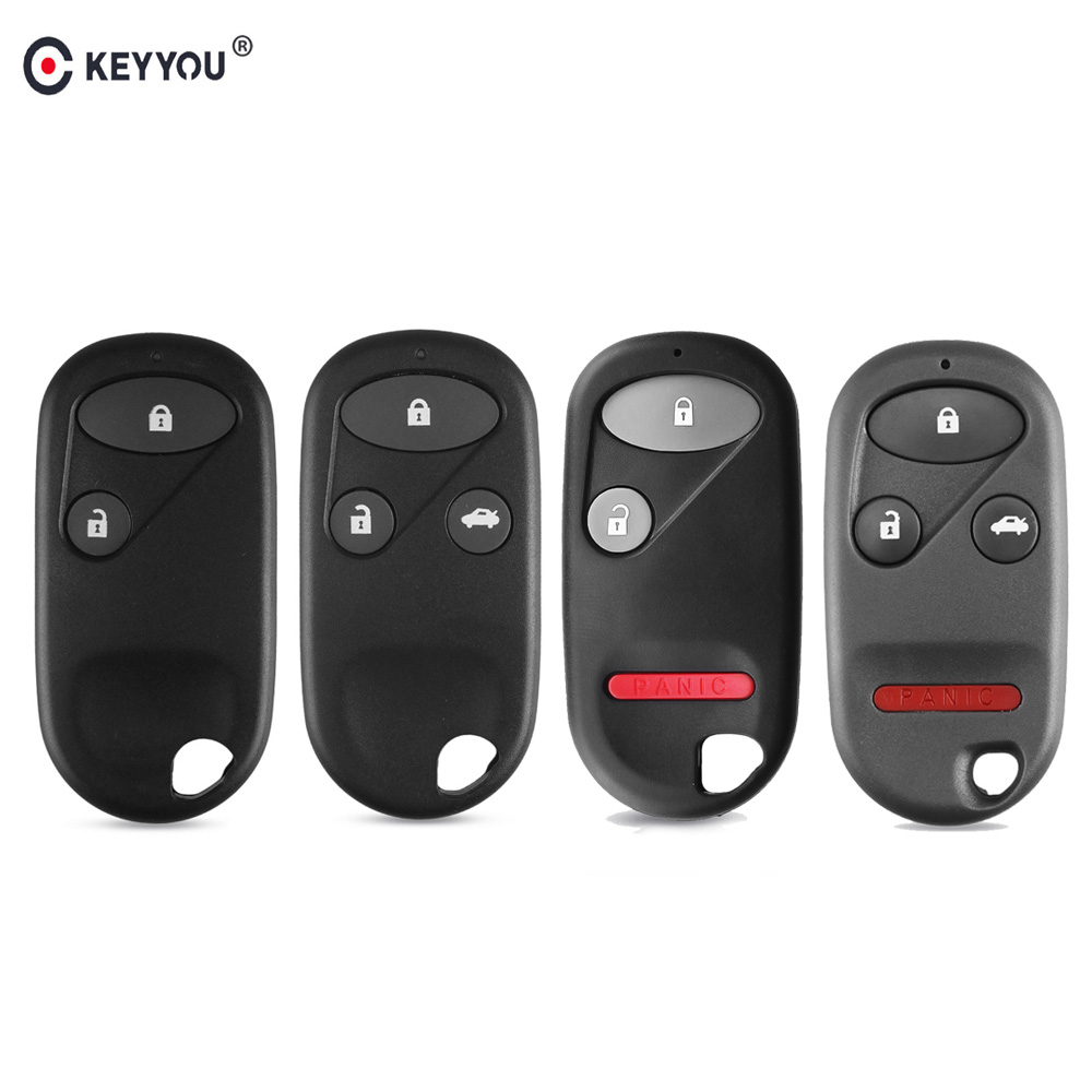 KEYYOU 2/3/4 Button Car Remote Key Shell Fob Case For <font><b>Honda</b></font> Civic CRV <font><b>Accord</b></font> Jazz 2003 2004 2005 2006 2007 2008 <font><b>2009</b></font> 2010 2011 image