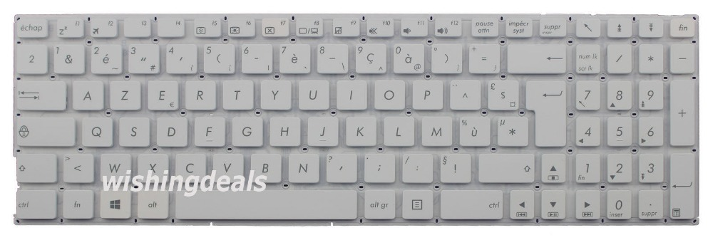 New notebook Laptop keyboard for   ASUS F756UW F756UX F756UA F756UB French/Fr layout laptop keyboard for asus x20 f9 f6 black fr french version k030462r1 04gner1kfr00