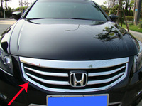 For 2011 2012 Honda Accord US Model Chromed Grill Grille Added Cover Trims Decoration 1Pcs