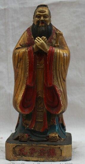 """Ev ve Bahçe'ten Statü ve Heykelleri'de S0524 8 """"Bronz Nereye Boyama Standı Kong Zi Confuciussage Heykeli title="""