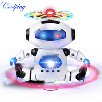 CP99444 2 360 Degree Fun Space Dancing Robot Electronic Walking Toys With Music Lightening Gift For
