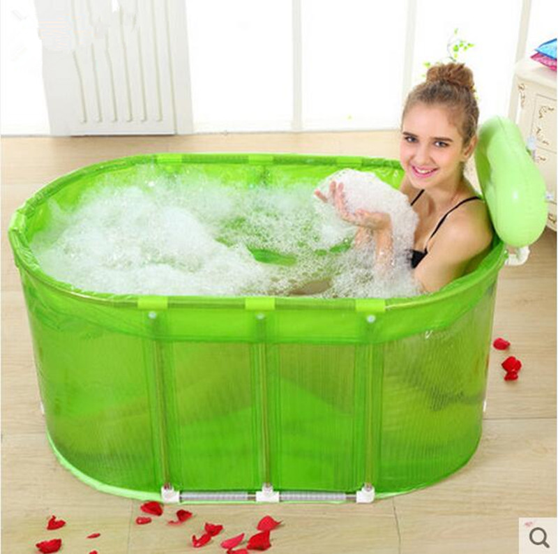 Sauna bath dual-purpose folding bath tub with large tub bath barrel adult stainless steel stent