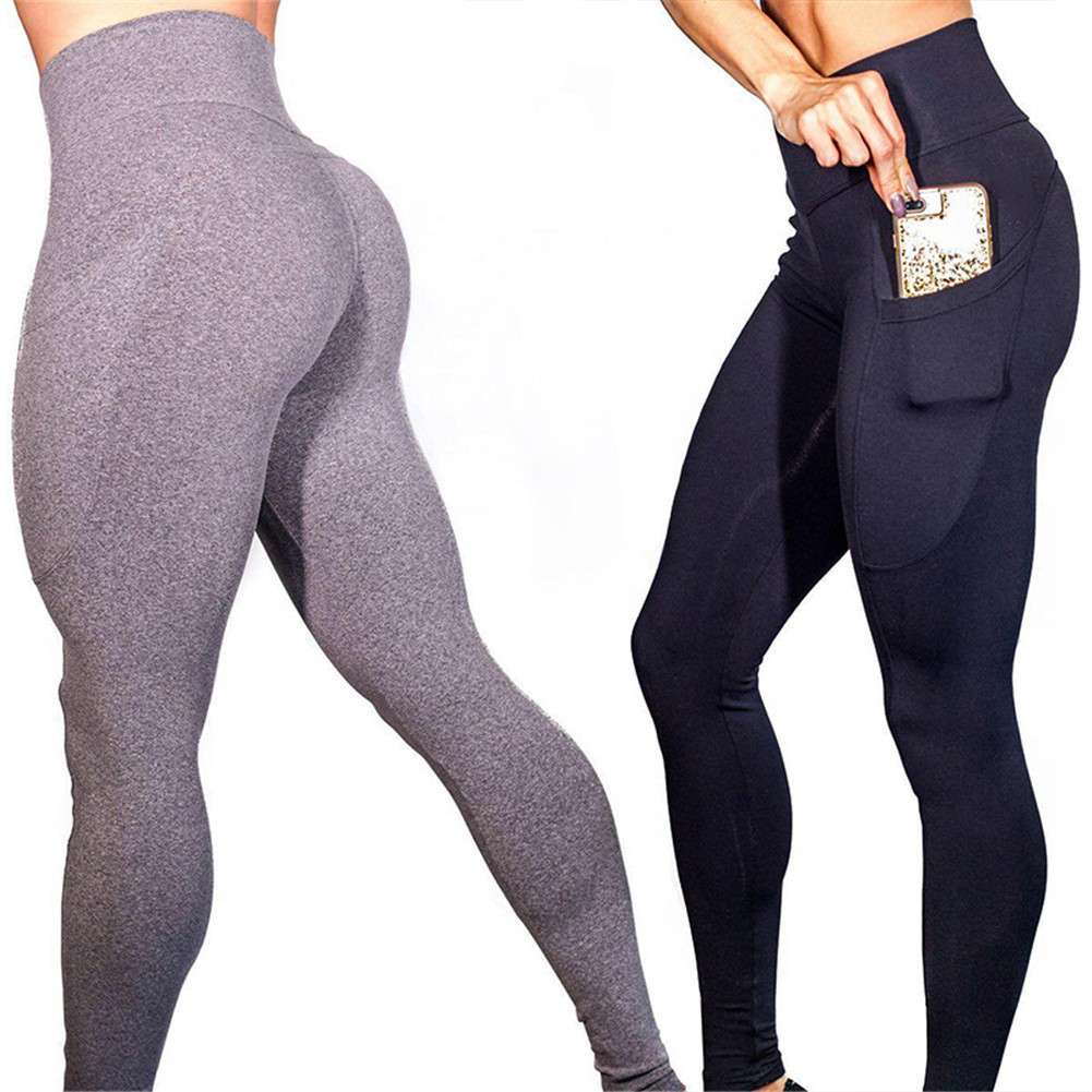 High Wasited Women Skinny Pants Hip pocket Fitness Leggings Sexy push up Gymming Legging Patchwork Bodybuilding Trousers