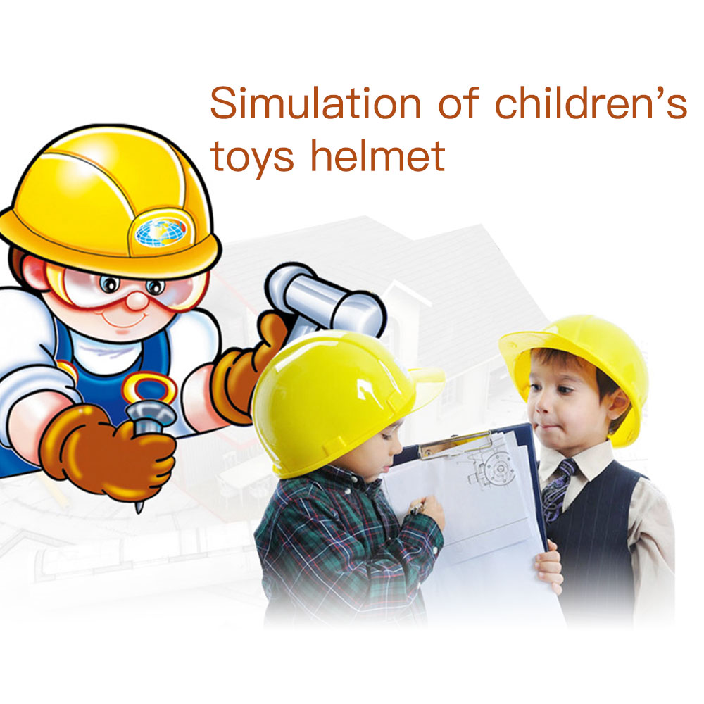 1pc Simulation Construction Hat Safety Helmet Pretend Role Play Hat Toy Construction Creative Material Kids Children Gadgets