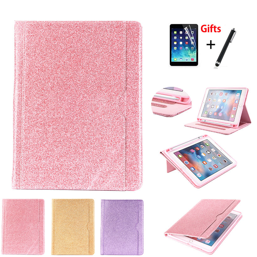 Case For iPad 9.7 inch 5th 6th Generation 2018 2017 Cover With Pencil Holder For iPad Air 1 2 iPad Pro 9.7 Funda Shell +Film+Pen